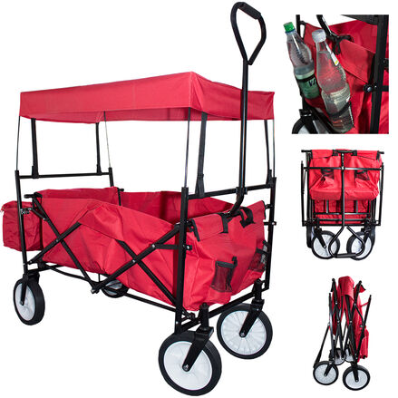 Skladací vozík s odnímateľnou strechou a taškou