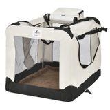 Skladacia prepravka na psy Lassie XL (béžová)