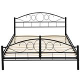 """Kovová posteľ ,,Toskánsko"""" 180 x 200 cm - čierna"""