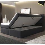 """Posteľ ,,Memphis"""" 180x200cm s pružinovým matracom a úložným priestorom, šedá"""