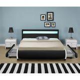 """Čalúnená posteľ ,,Bilbao"""" s úložným priestorom 180 x 200 cm - čierna"""
