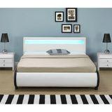 """Čalúnená posteľ ,,Bilbao"""" s úložným priestorom 180 x 200 cm - biela"""
