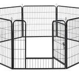 Ohrádka z kovu s dvojitými uzamykateľnými dverami - 8-dielna,156 × 156 × 80