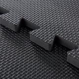 Ochranná podložka na ochranu podlahy, 6 kusov 50x50cm hrúbka 13mm - čierna