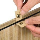 Bambusový kôš na prádlo Curly 100 litrový, natúr s vrecom na bielizeň a s uškami na prenášanie
