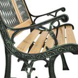 2-miestna záhradná lavica Sanremo z lakovaného dreva a kovových častí
