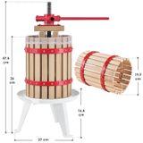 Mechanický lis na ovocie Juicy 6 litrový z masívneho dreva