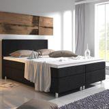 "Posteľ ,,Virginia"" 180 x 200 cm s pružinovým matracom, čierna"