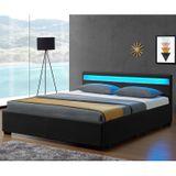 """Čalúnená posteľ ,,Lyon"""" s úložným priestorom 140 x 200 cm - čierna"""