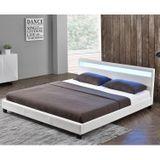 """Čalúnená posteľ ,,Paríž"""" 140 x 200 cm - biela"""