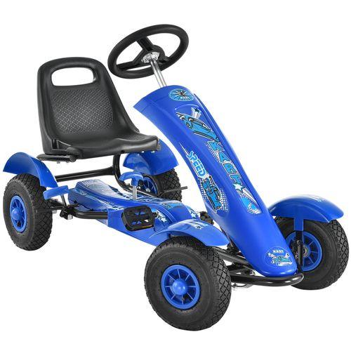 1-miestna GoKart Racer motokára modrá