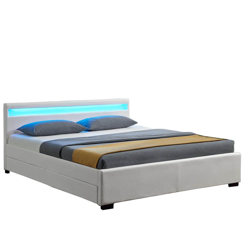 """Eshopist Čalúnená posteľ ,,Lyon"""" s úložným priestorom 140 x 200 cm - biela"""