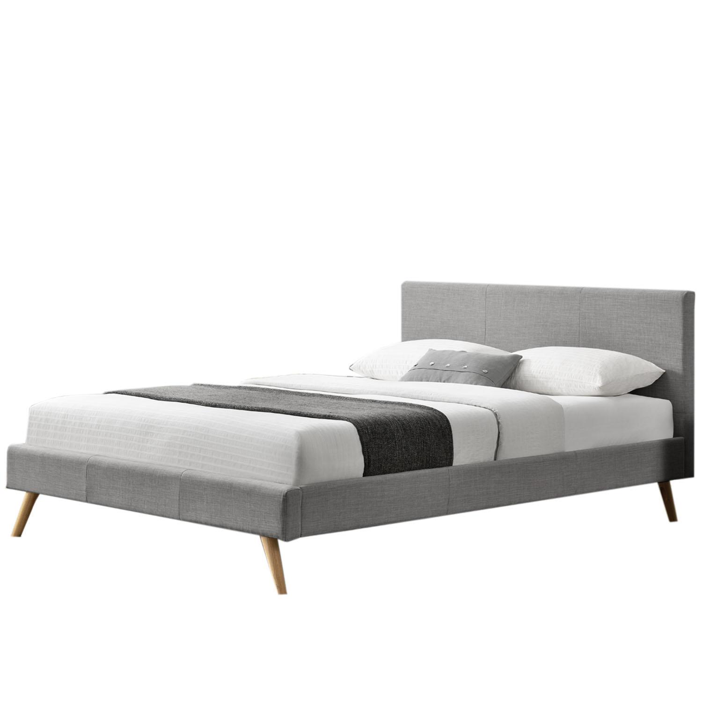 """Eshopist Čalúnená posteľ ,,Toledo"""" 140 x 200 cm - svetlošedá"""