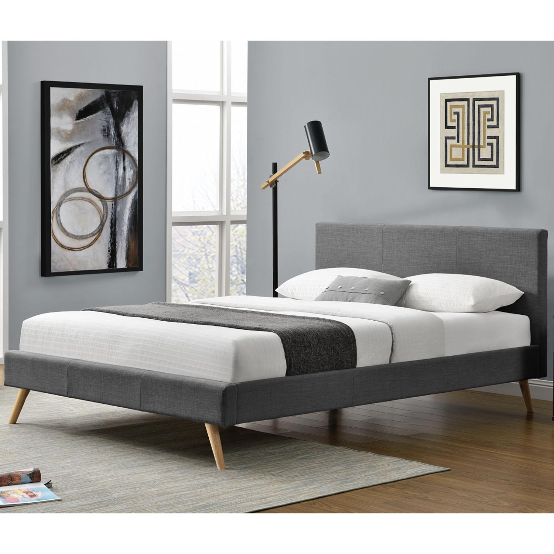 """Eshopist Čalúnená posteľ ,,Toledo"""" 140 x 200 cm - tmavošedá"""