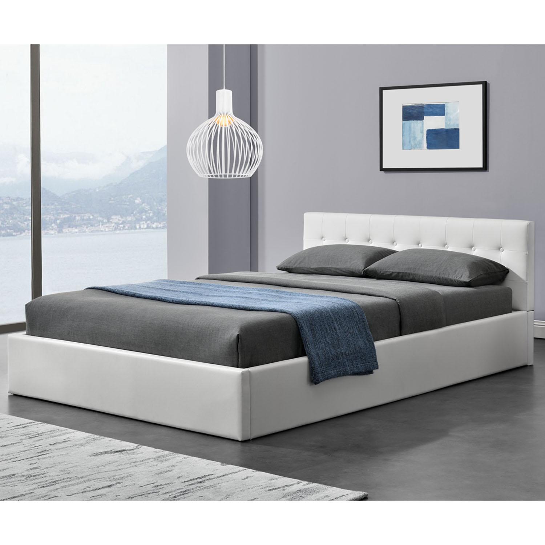 """Eshopist Čalúnená posteľ ,,Marbella"""" 140 x 200 cm - biela"""