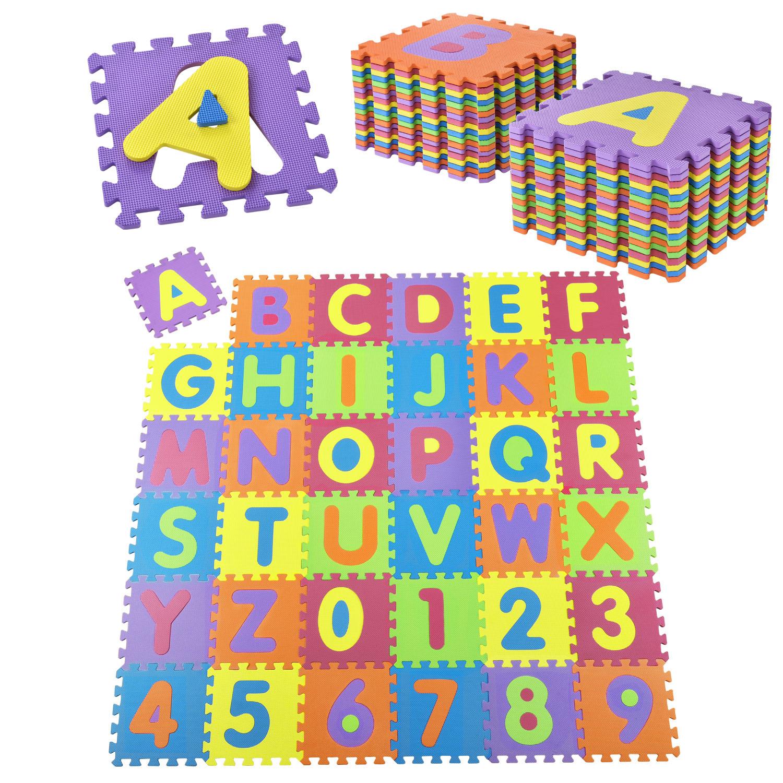 Eshopist Detské puzzle 36 častí od A po Z a od 0 po 9
