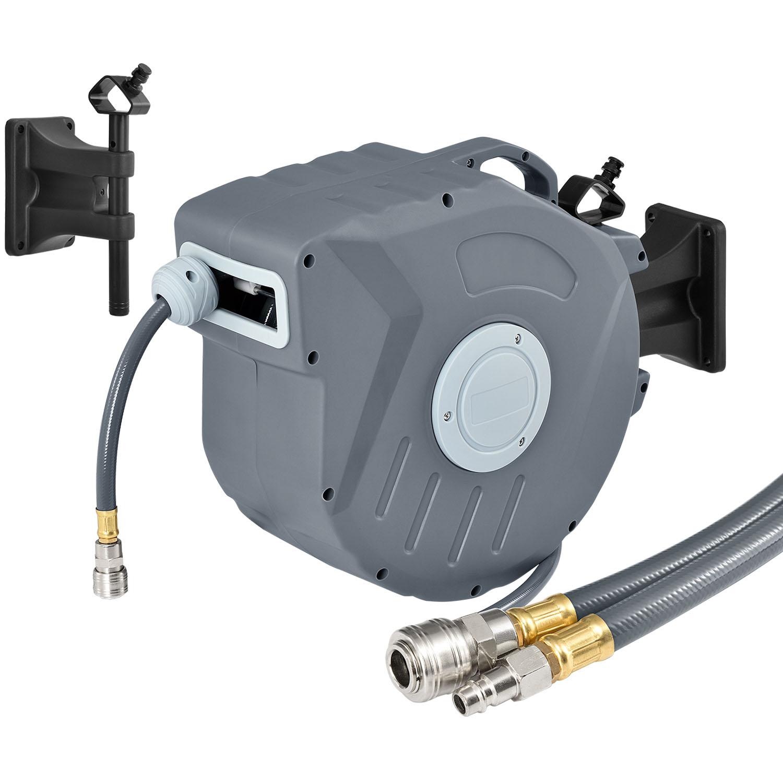Eshopist Kompressor na vzduch s automatickým tlakom 3/8 a 20m hadicou s možnosťou montáže na stenu