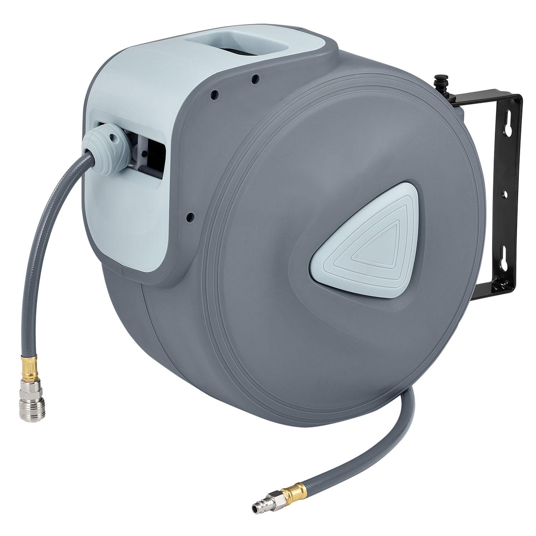 Eshopist Kompresor na vzduch s automatickým tlakom 3/8 a 30m hadicou s možnosťou montáže na stenu