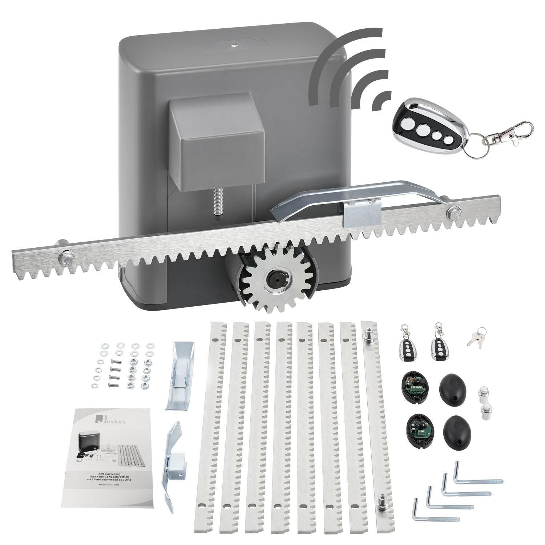 Eshopist Elektrický ovládač posuvných brán s 2 diaľkovými ovládačmi, až do 600 kg