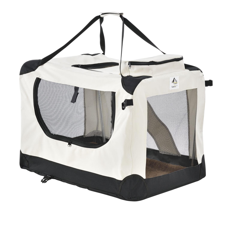 Eshopist Skladací prepravný box pre psov Lassie S (béžová)