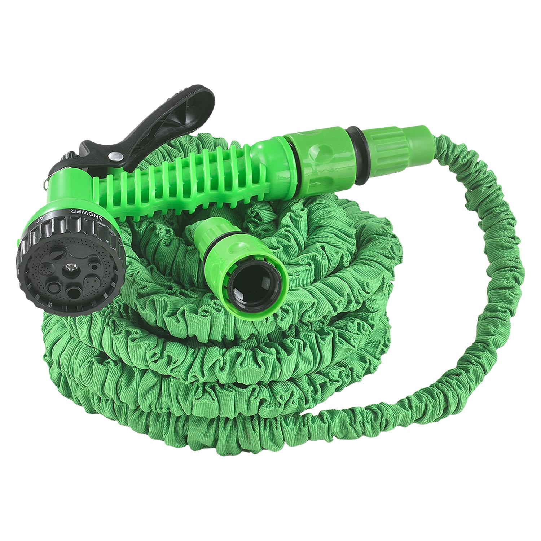 Eshopist Flexibilná záhradná hadica Aqua 15m s multifunkcionálnou hlavicou zelená