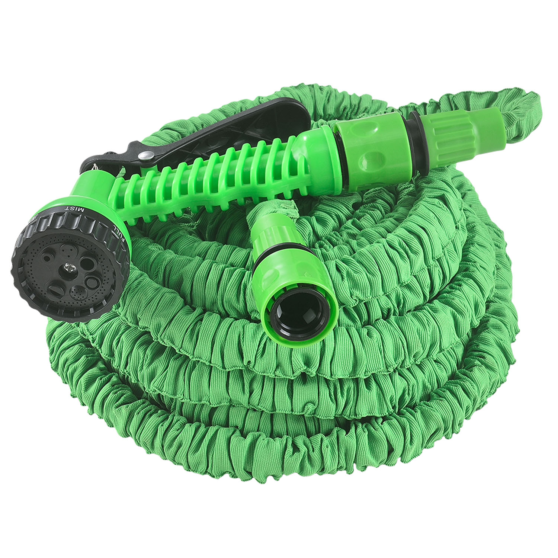 Eshopist Flexibilná záhradná hadica Aqua 22,5m s multifunkcionálnou hlavicou zelená