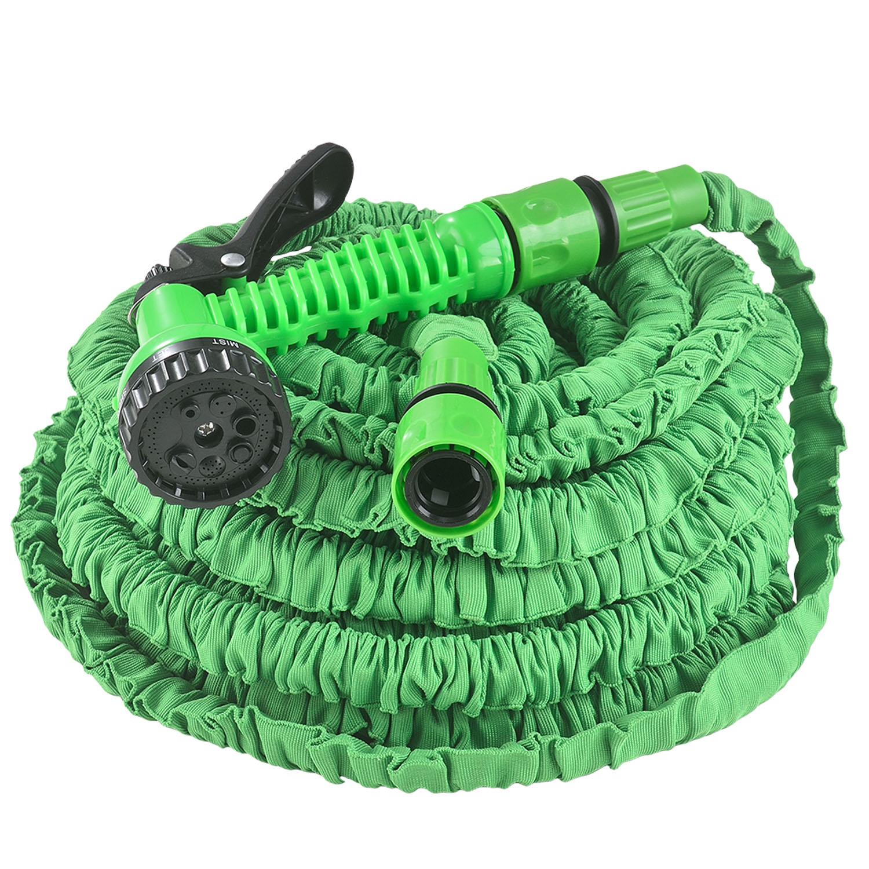 Eshopist Flexibilná záhradná hadica Aqua 30m s multifunkcionálnou hlavicou zelená