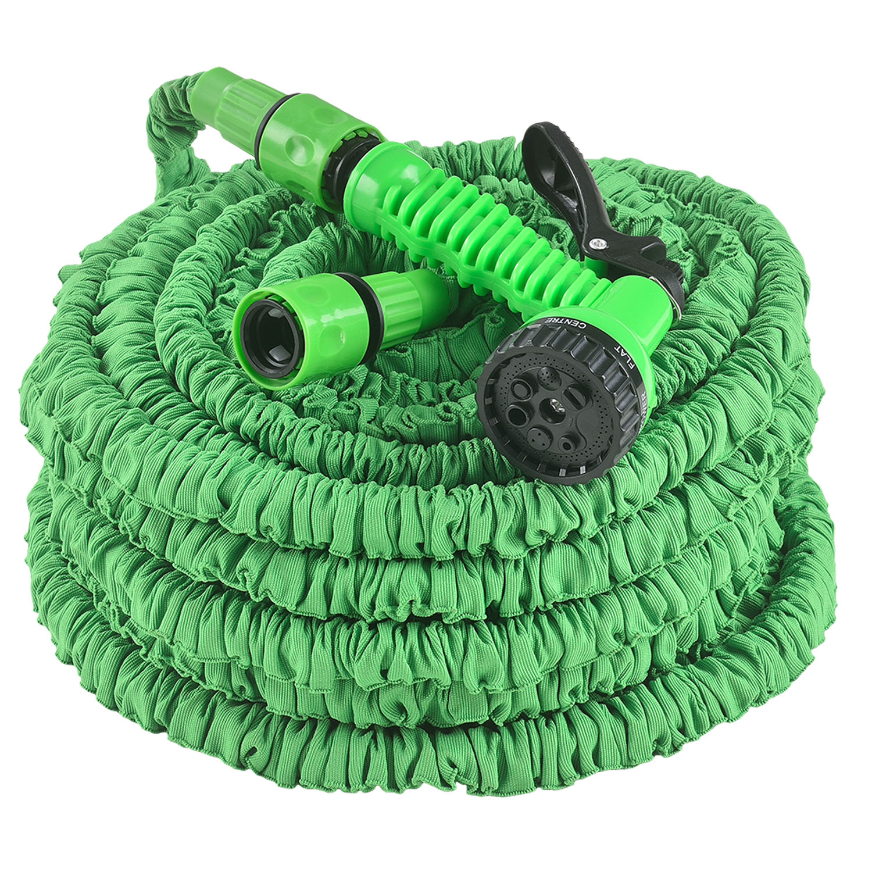 Eshopist Flexibilná záhradná hadica Aqua 45m s multifunkcionálnou hlavicou zelená