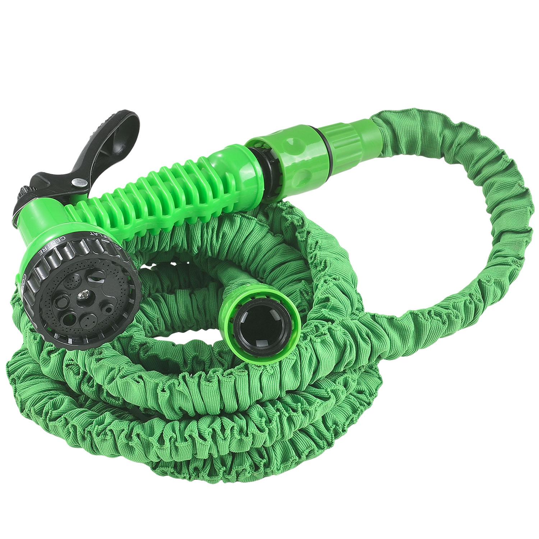 Eshopist Flexibilná záhradná hadica Aqua 7,5m s multifunkcionálnou hlavicou zelená