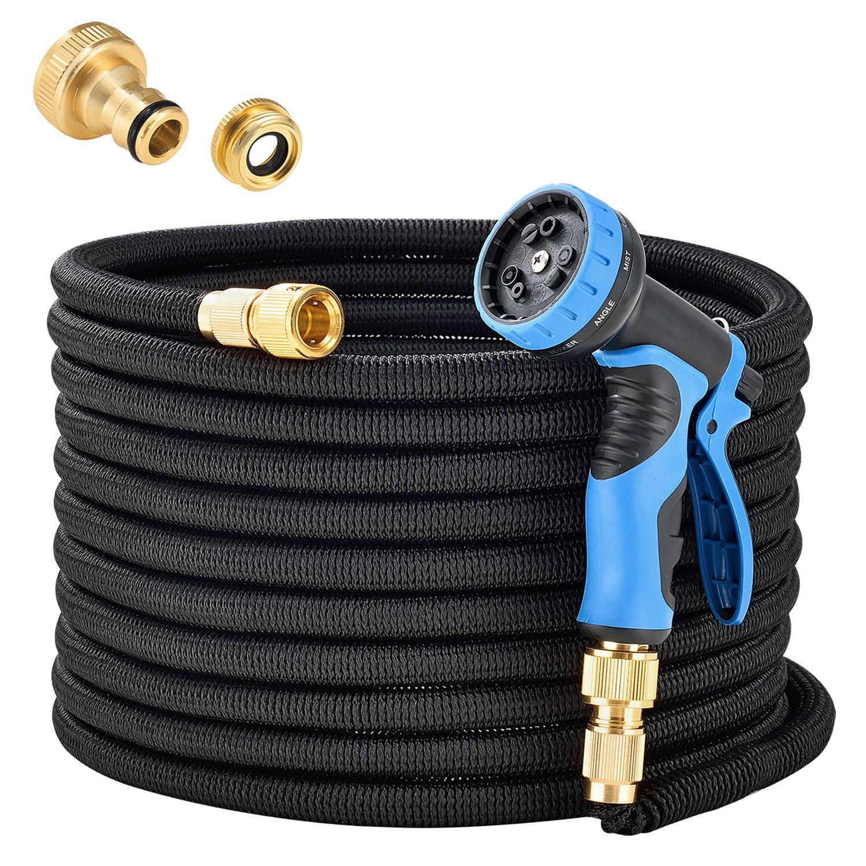 Eshopist Flexibilná záhradná hadica Aqua Pro 30m s multifunkcionálnou hlavicou čierna