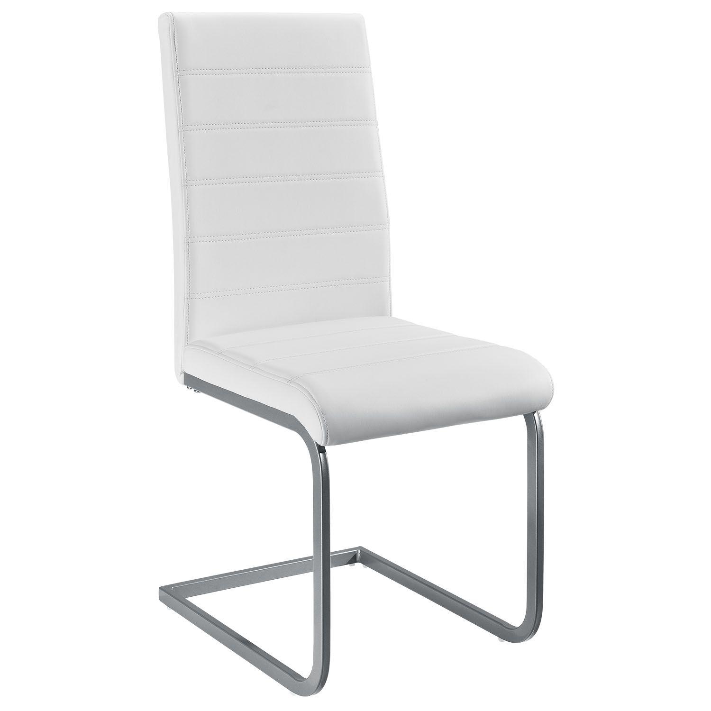 Eshopist Konzolová stolička Vegas sada 2 kusov zo syntetickej kože v bielej farbe