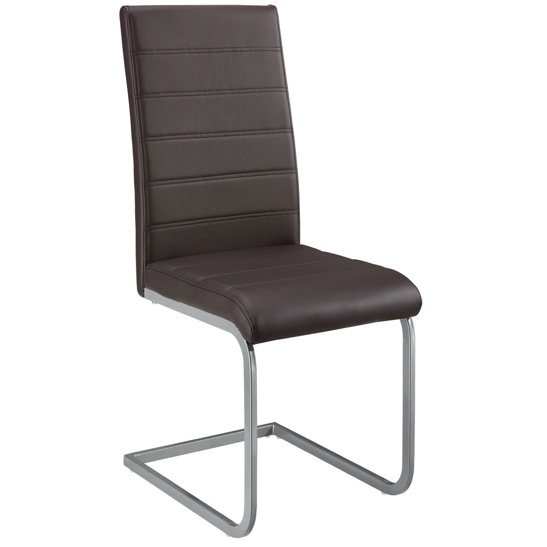 Eshopist Konzolová stolička Vegas sada 4 kusov zo syntetickej kože v hnedej farbe