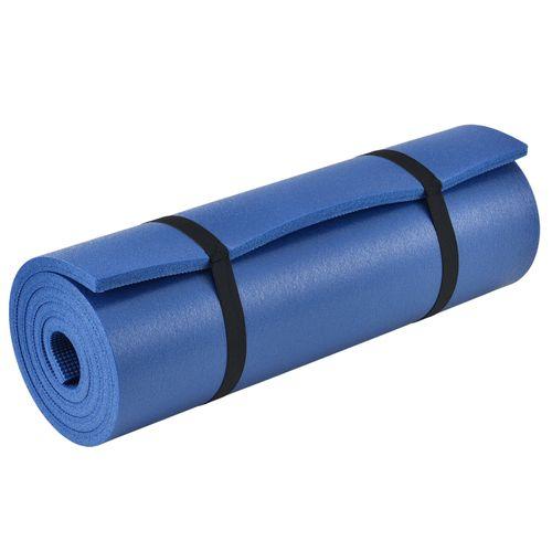 Podložka pre gymnastiku, jogu a fitness 185 x 60 x 1,5 cm v modrej farbe