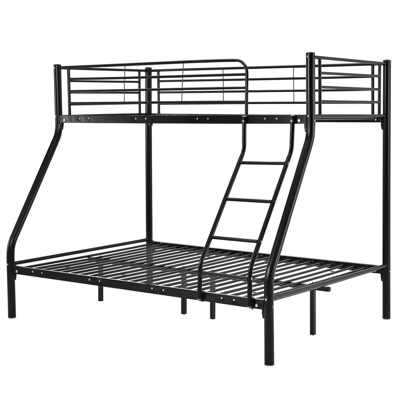 "Eshopist Poschodová postel ""Jonas"" čierna 90 x 190 cm"