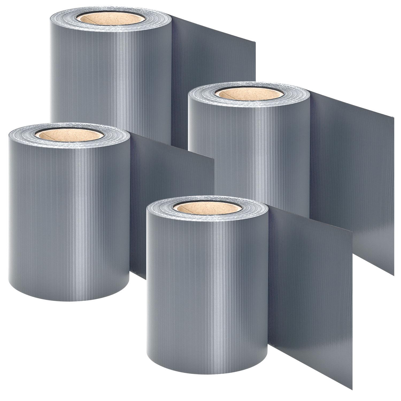 Eshopist PVC ochranný pás 4 kusy - svetlo sivá