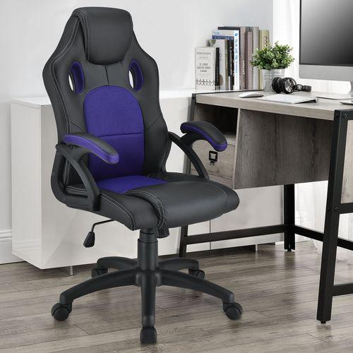 Koliesková kancelárska stolička Montreal (fialová)