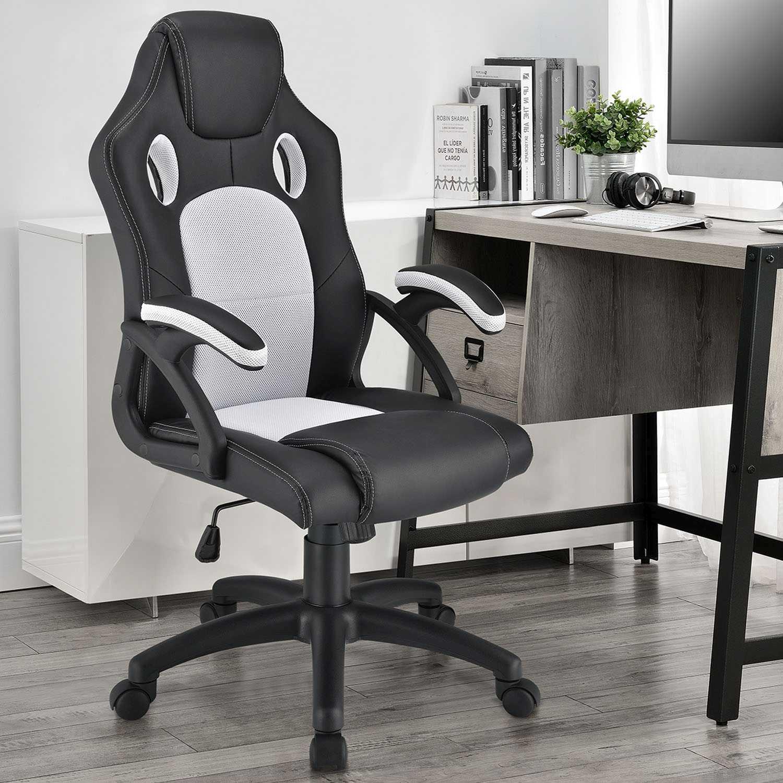 Eshopist Koliesková kancelárska stolička Montreal (biela)