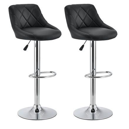 """Barová stolička ,,Billstedt"""" Sada 2ks (čierna)"""