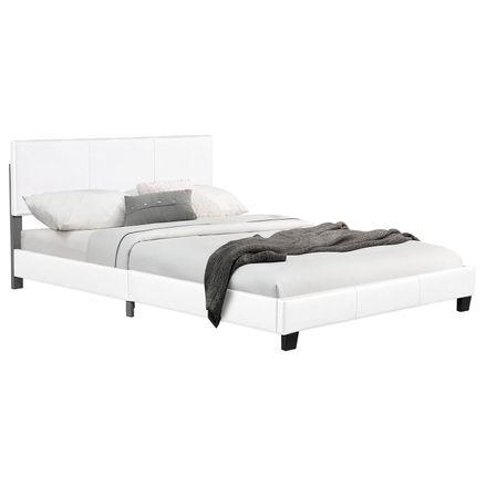 """Čalúnená posteľ ,,Barcelona"""" 140 x 200 cm - biela"""