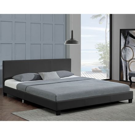 """Čalúnená posteľ ,,Barcelona"""" 140 x 200 cm - tmavošedá"""