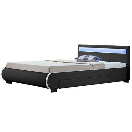 """Čalúnená posteľ ,,Bilbao"""" s úložným priestorom 140 x 200 cm - cierna"""