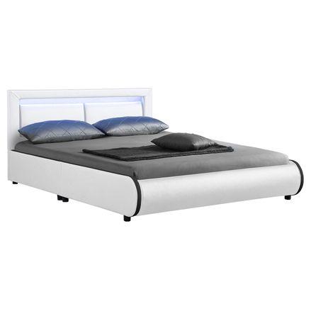 """Čalúnená posteľ ,,Murcia"""" 140 x 200 cm - biela"""