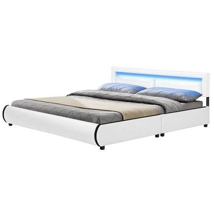 """Čalúnená posteľ ,, Murcia"""" 180 x 200 cm - biela"""