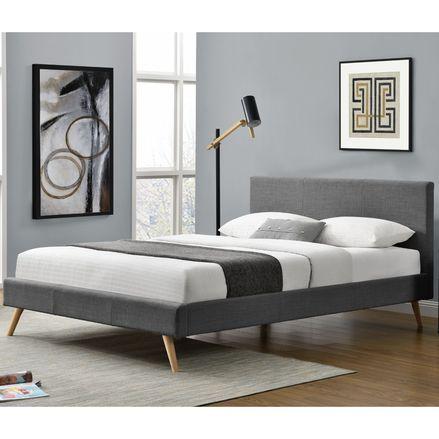 """Čalúnená posteľ ,,Toledo"""" 140 x 200 cm - tmavošedá"""