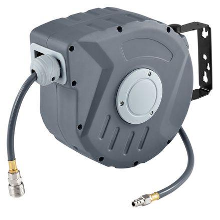 Kompresor na vzduch s automatickým tlakom 3/8 a10m hadicou s možnosťou montáže na stenu