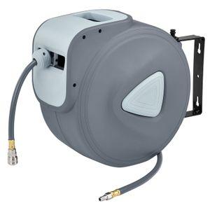 Kompresor na vzduch s automatickým tlakom 3/8 a 30m hadicou s možnosťou montáže na stenu