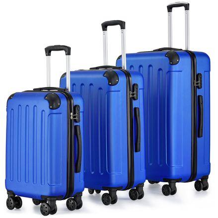 Set kufrov Yara 3 s teleskopickou rukoväťou modrý