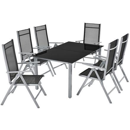 """Hliníková záhradná sada ,,Milan"""" stôl a 6 stoličiek"""
