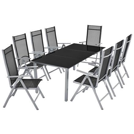 """Hliníková záhradná sada ,,Milan"""" stôl a 8 stoličiek"""