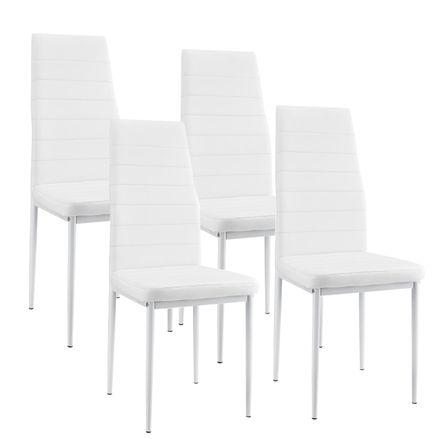 """Jedálenská stolička ,,New York"""" sada 4 kusy v bielom"""
